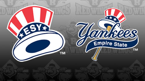 The Empire State Yankees cap logos.