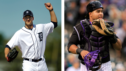Drew Smyly and Wilin Rosario will start the season respectively with Detroit and Colorado.