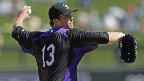 Drew Pomeranz will make his season debut for the Rockies on Sunday.