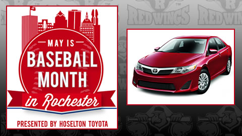 Hoselton Toyota presents Baseball Month in Rochester.