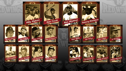 The 2012 Red Wings Legends card strip series.