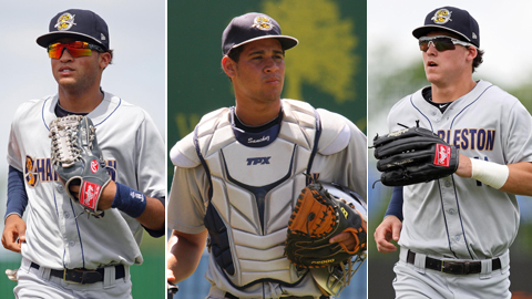 Mason Williams (left), Gary Sanchez (center) and Tyler Austin starred at Class A Charleston.