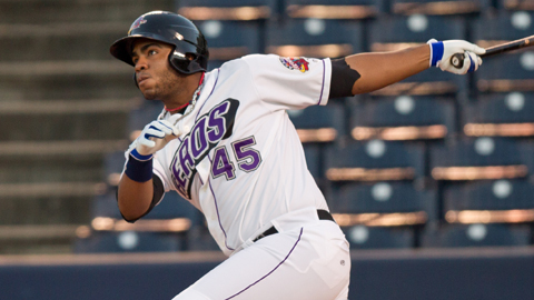 Akron's Jesus Aguilar participated in this year's Futures Game.